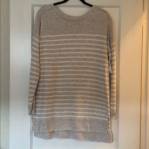 Old Navy Natural & Cream Stripe Sweater Size M NWT